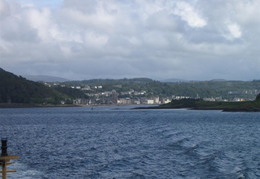 View from ferry back towards Oban