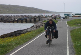 Mo, Vatersay Causeway in background