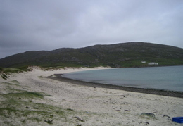 Beach at end of road on Vatersay