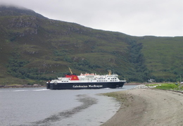 Our ferry leaving Ullapool to return to Stornoway