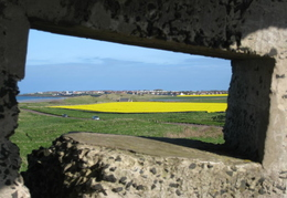 WW2 Lookout post - through hole to Seahouses