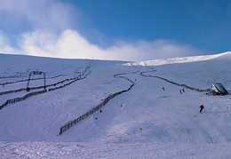 View up Cairnwell T-bar & race track etc