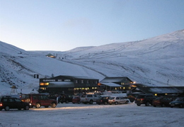 Glenshee ski area just before heading off for the day