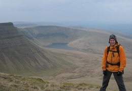 Nigel, Llyn y Fan Fach (the lake!) behind