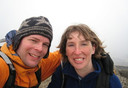 Nigel & Lucy, Summit of Penygadair