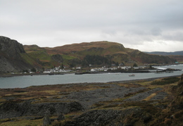 Looking from Easdale Island To Easdale Village On The Isle of Seil