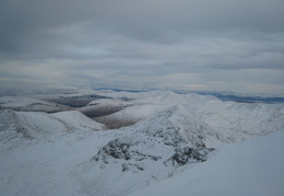 View east from Ben More