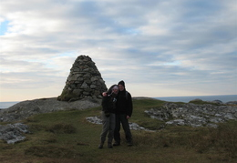 Lucy & I, Iona Summit behind
