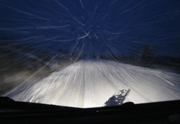 Challenging road conditions on way home