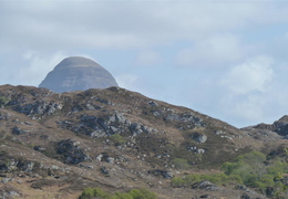 End of Suilven looming above the wee hills near Lochinver School