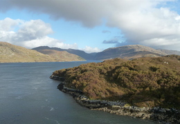 Tother side, looking up loch Glencoul
