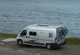 Parked up beside Kyle Of Durness