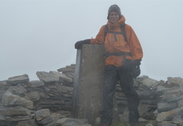 Saturday: Change in the weather! (Almost) Summit of Ben Stack