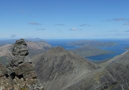 Looking From Bla Bheinn towards Raasay
