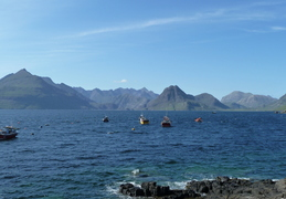 View From Elgol Towards Gars Bleinn at start of ridge. Lump in Middle Is Sgurr Na Stri