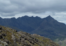 Skye Ridge, Sgurr Nan Gillian, and the towers of Pinacle Ridge clearly visible