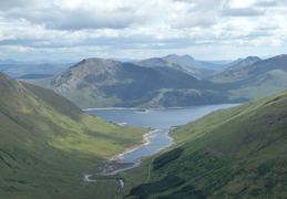 View over to Loch Quoich