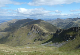 View back along ridge to 1st Munro