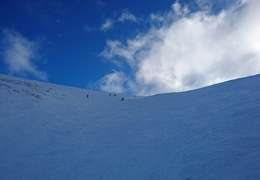 Looking up Goose Gully